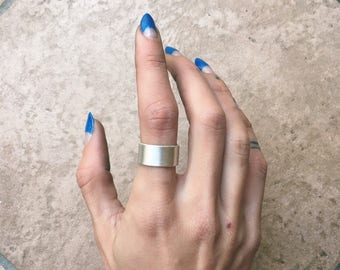 Tall Band Ring | Sterling Silver or 18k Gold