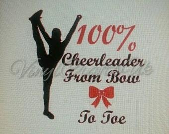 100% Cheerleader decal