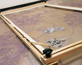 Tambour Embroidery Frame. Luneville/Tambour/Couture Professional Frame 133×70