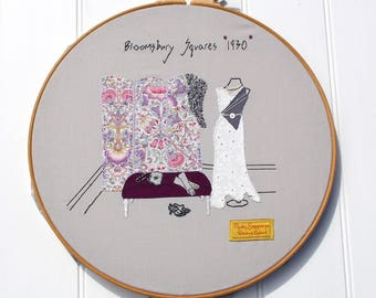 Bloomsbury Squares 1930 pdf Embroidery Pattern