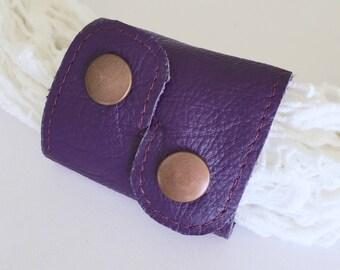 Scarf Cuff: Purple