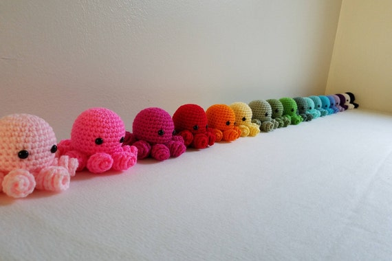 Easy Amigurumi Octopus : Amigurumi octopus crochet octopus stuffed animal doll kawaii