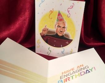 PICARD Star Trek BIRTHDAY CARD!!