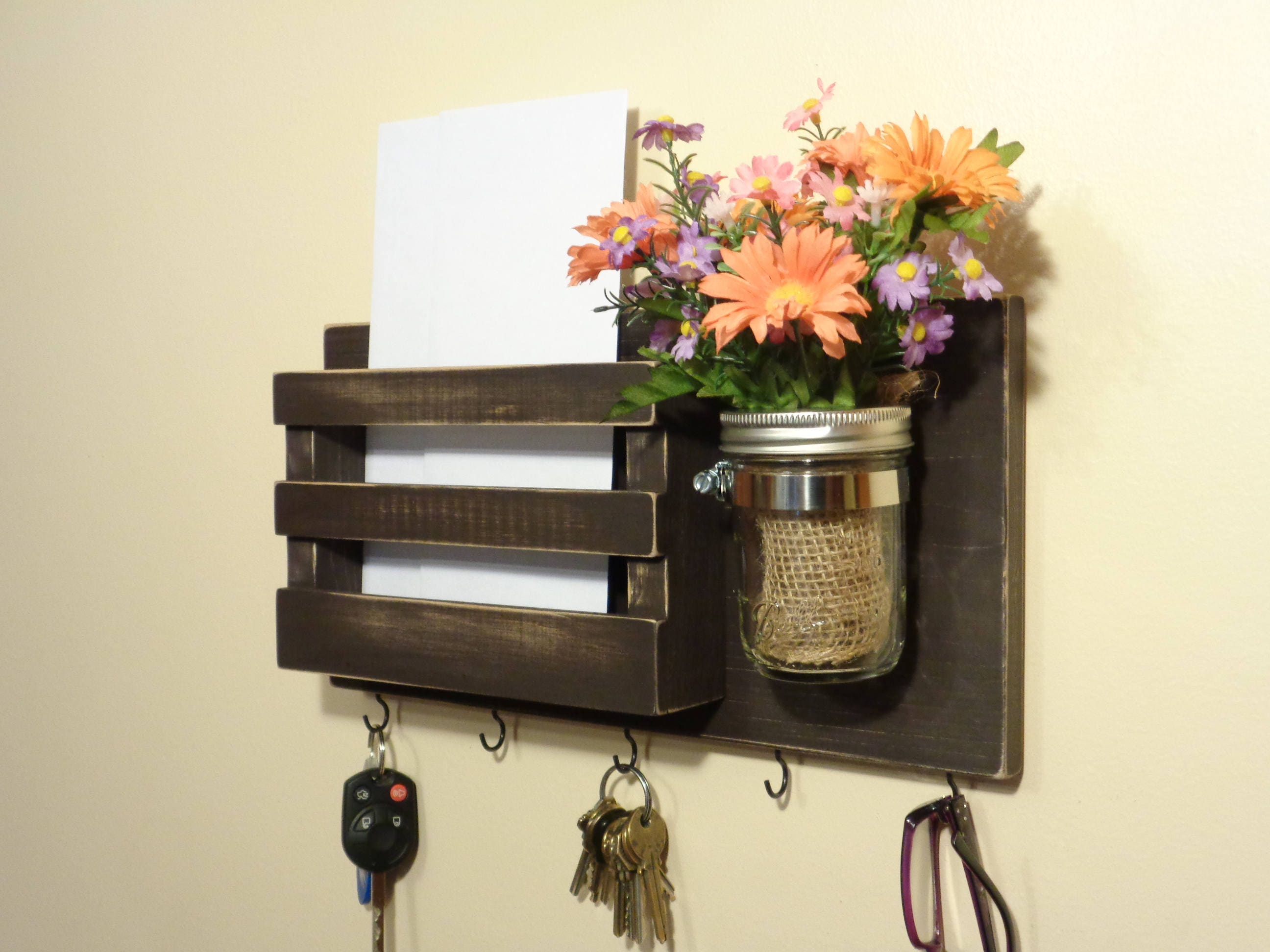 mounted posts made key wall for men man rack this diy make users david crafts mountain wooden