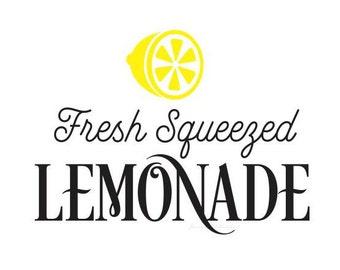 Lemonade Decal, Fresh Squeezed Lemonade wall sticker, Wedding drink station lemonade sign, make your own farmhouse sign, lemonade stand sign