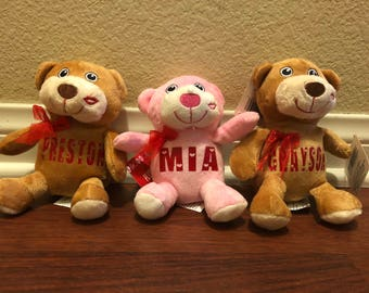 FREE SHIPPING Within the US Valentine's Day Personalized Bears