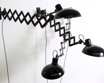 Helion Anrstadt Scissors Lamps Drilinge Bauhaus lamps-Restored!
