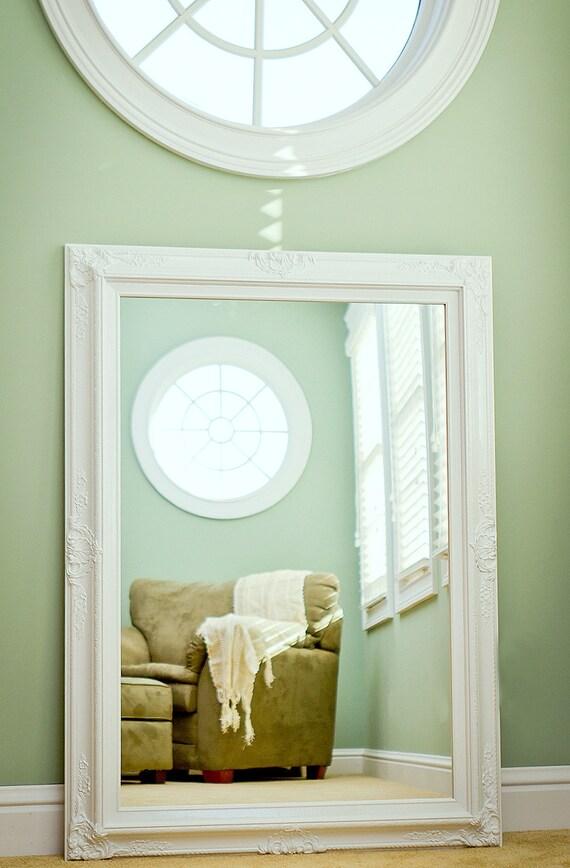 large bathroom mirror large mantel mirror 44x32 dining room white framed vanity mirror shabby chic - White Framed Mirrors