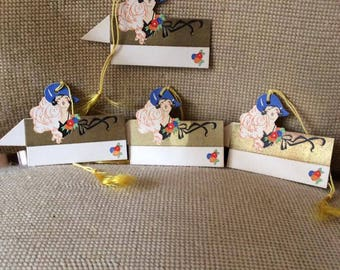 Vintage 1920s 1930s Cards Bridge Tally Cards Deadstock Unused Set Of 4 Beautiful Ladies Paper Ephemera Collectible Scrap Booking