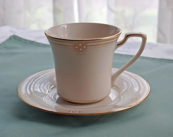 Noritake Satin Gown Cup and Saucer