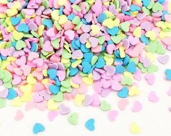 20g Candy Sprinkles - Heart / Rainbow Fluorescent Kawaii Cute Fake Food Polymer Clay Cell Phone Deco
