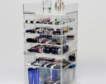 7 Tier Makeup Organizer | Dream Collection - Clear Acrylic Makeup Storage