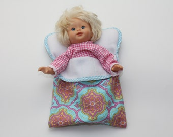 Small Baby Doll Sleeping Bag - Amy Butler Charm Fabric
