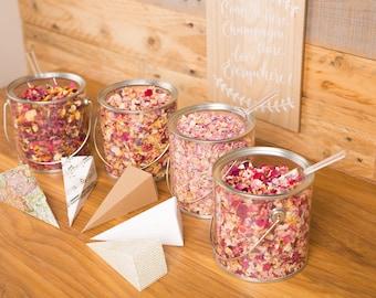 Confetti Tin Plus Natural Petal Biodegradable Wedding Confetti