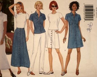 Misses Dress - Pants - Skirt - Top - Butterick 4892 - Sewing Pattern - New - Uncut - Size 6 - 8 - 10 - 12