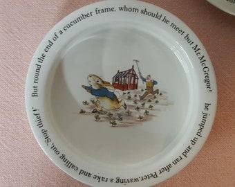 "Wedgwood Peter Rabbit Porringer Bowl ""Thief"""