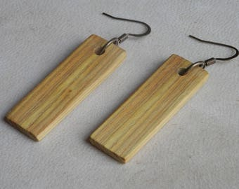 Wood Earrings. Wooden Earrings. Earrings Made From Wood. Exotic Wood Earrings. Smoke Bush Wood. Hand Crafted. All Natural Color.