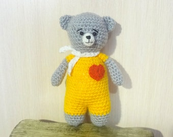 Hand Knit Soft Toy Teddy
