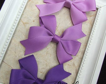 Classic Pinwheel Hair Bows, Hair Clips For Baby, BEST SELLER, Purple Hair Bow Clips, Toddler Girl, Girl Hair Clips, Teen Hair Clips