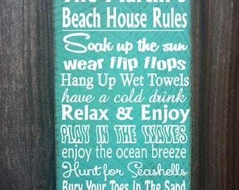 personalized beach sign,  beach sign, beach house decor, personalized beach house sign, ocean sign, beach cottage, beach cottage decor