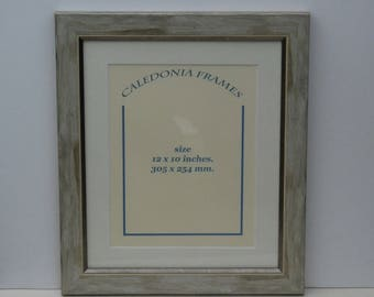 Hand made distressed grey picture photo frame