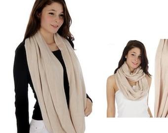 Soft acrylic solid circular scarf