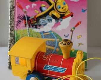 Fisher Price Toot Toot Train Engine and Tootle Little Golden Book