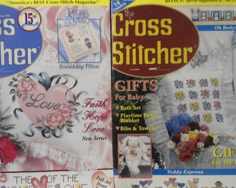 The Cross Stitcher February 1999 Magazine Volume 15 Number 6 + Baby Charts Insert
