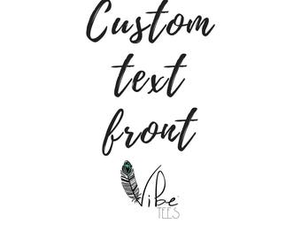 Custom Text on Front, Yoga Tank, Yoga Shirt, Funny Yoga Shirt, Workout Tank, Yoga Top, Funny Workout Shirt, Off Shoulder Sweater