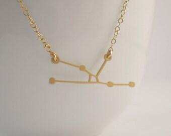 Taurus Constellation Necklace, Zodiac Constellation, Constellation Necklace, Taurus Charm, Astrology, Stars