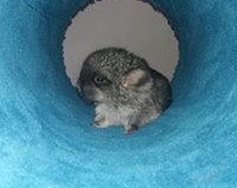 Big fluffy tube for chinchilla cage
