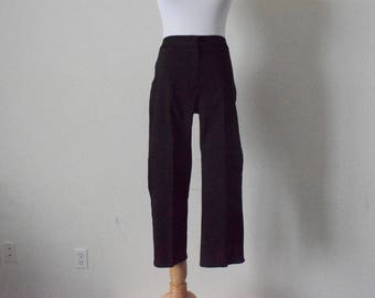 FREE usa SHIPPING Vintage women's pants/ plaid slacks/ plaid pants/ dress pants/ high waisted/elastic waist/ retro/ 1980s