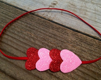 Heart headband, heart headbands, baby heart headbands, valentines day headband, valentines headband