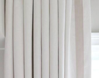 Custom Euro Pleated Drapes in Kravet Linen (Comes in 50 Colors) with Samuel & Sons Grosgrain Ribbon Trim