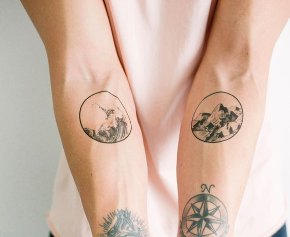 2 nature temporary tattoos smashtat for Removal of temporary tattoos