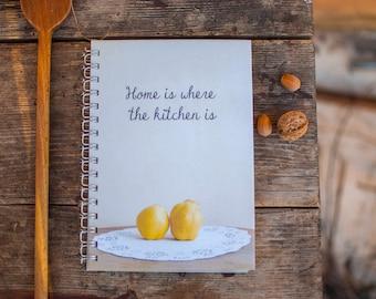 Recipe book, Cook book, Recipes book, Notebook, Recipe notebook, Blank recipes book, 180 pages for recipes, Handmade, Paper supplies,Kitchen