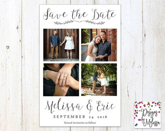 Photo Save the Date Card - Photo Flat Card - Wedding Save the Date - Engagement Announcement - Custom Photograph Save the Date -DIGITAL FILE