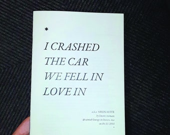 I Crashed The Car We Fell In Love In [book]