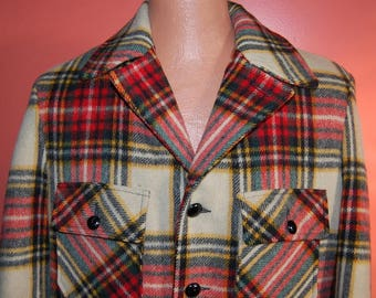 Vintage Men's Lakeland Wool Car Coat Jacket Size 42 Warm Winter