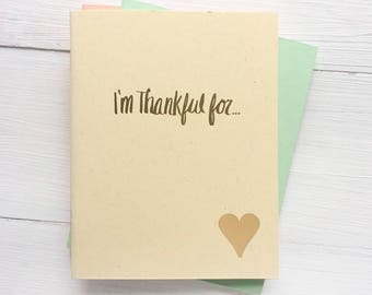 i'm thankful for pressed pocket journal with heart set of 3