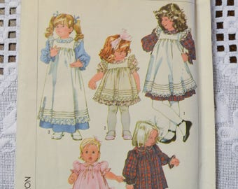 Simplicity 7835 Sewing Pattern Childs Girls Dress and Pinafore Size 5 DIY Sewing Vintage Sewing Pattern PanchosPorch
