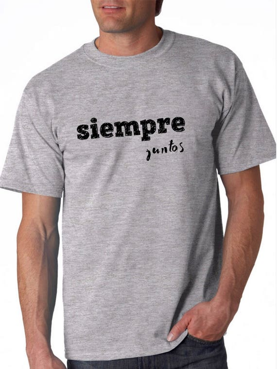 Round neck men short sleeve t-shirt SIEMPRE JUNTOS