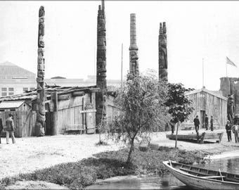 Poster, Many Sizes Available; Houses And Totem Poles Of Alaskan Indians — Official Views Of The World'S Columbian Exposition — 89
