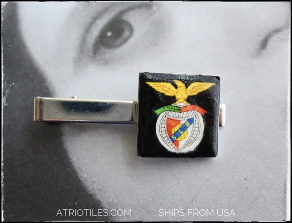 BENFICA Portugal TIE BaR ClIP - Benfica Clube  Lisboa  -  Futebol Soccer Father's Day  Gift for Him MeN - Ships from USA Gift Box Included