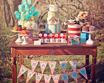 Circus Carnival Birthday Party Package - Printable