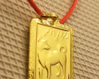 Chinese New Year- Year of the Dog Charm Necklace