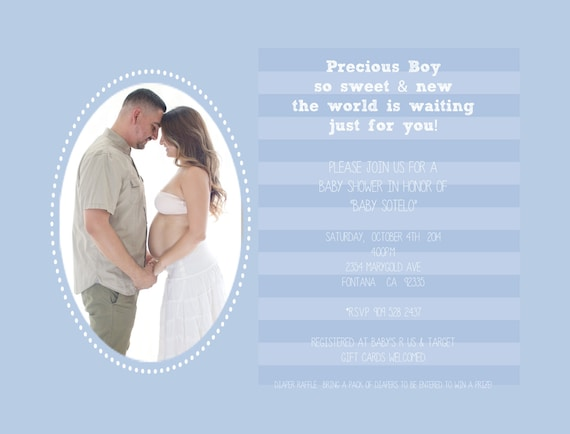 Items Similar To Baby Boy Baby Shower Invitation Template DIY - Baby shower invitations templates editable
