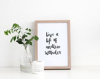 Live a Life of Endless Wonder
