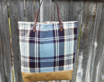 Tote Bag,  Plaid, Bag