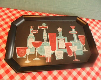 Vintage Cocktail Tray By Waverly Products - Drinks Recipes - F. Hard